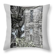 A Tree In The Backyard Throw Pillow