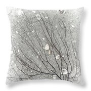 A Tree On The Beach #2 - Seaweed And Shells Throw Pillow
