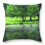 A Tree Reflected Throw Pillow