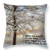 A Tree Shows Its Strength And Beauty Throw Pillow