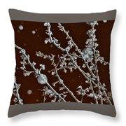 A Tree Snows In Brooklyn Throw Pillow