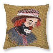 A Tribute To All Clowns Throw Pillow