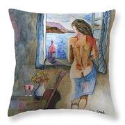 A Tribute To Salvador Dali Throw Pillow