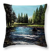 A Trip To The Mountains Throw Pillow