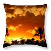 A Tropical Sunset Throw Pillow
