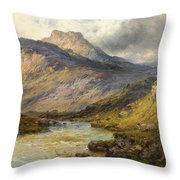 A Trout Stream Near Stirling Throw Pillow