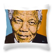 A True Leader With Dignity Personified Throw Pillow