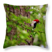 A True Red Head Throw Pillow