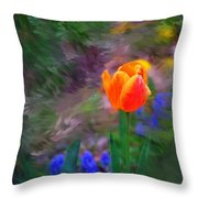 A Tulip Stands Alone Throw Pillow
