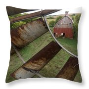 A Turn-of-the-century Peg Barn As Seen Throw Pillow