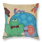 A Turtles Friends Throw Pillow