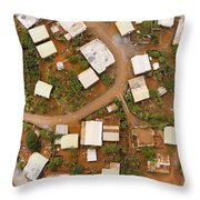 A Typical Indigenous Village Throw Pillow