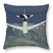 A U.s. Air Force E-3 Sentry Airborne Throw Pillow