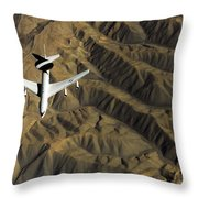 A U.s. Air Force E-3 Sentry Aircraft Throw Pillow