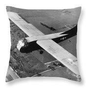 A U.s. Army Air Force Waco Cg-4a Glider Throw Pillow by Stocktrek Images