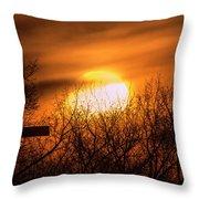A Vague Sun Throw Pillow