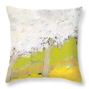 A Valley In Bloom Throw Pillow by Jennifer Lommers