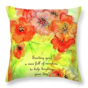 A Vaseful Of Sunshine Throw Pillow