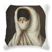 A Veiled Lady Throw Pillow