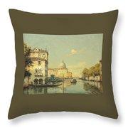 A Venetian Canal Throw Pillow