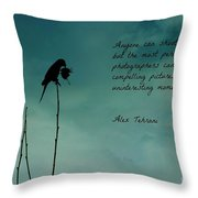 A Verse For Photographers Throw Pillow