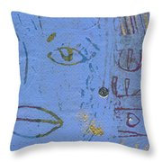 A Very Blue Lady Throw Pillow