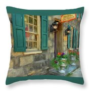 A Victorian Tea Room Throw Pillow