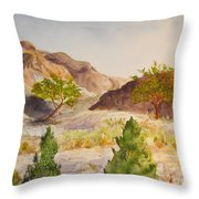 A View At Red Rock Throw Pillow