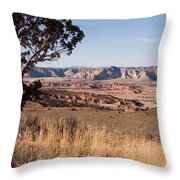 A View Down Into The Canyon That Forms Throw Pillow