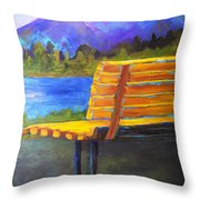 A View For Two Throw Pillow