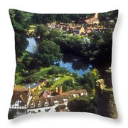 A View From Blarney Castle In Ireland Throw Pillow