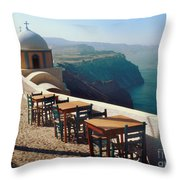 A View From Firostefani Throw Pillow
