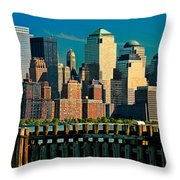 A View From Hoboken Throw Pillow