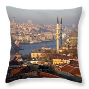 A View From Istanbul Throw Pillow