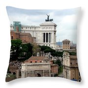 A View From Palatine Hill In Rome Italy Throw Pillow