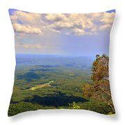 A View From Table Rock Throw Pillow