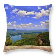 A View From Table Rock South Carolina Throw Pillow