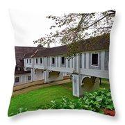 A View From The Cesky Krumlov Castle Gardens At Cesky Krumlov, Czech Republic Throw Pillow