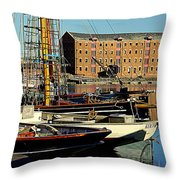 A View From The Docks Throw Pillow