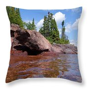 A View From The Lake Throw Pillow