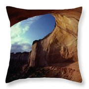 A View From The Mouth Of A Cave Of Echo Throw Pillow