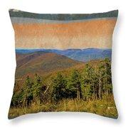 Equinox Mountain, Vermont.             Throw Pillow