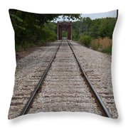 A View From The Tracks Throw Pillow