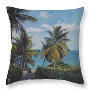 A View In The Virgin Islands Throw Pillow