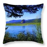 A View Of Beacon Rock Throw Pillow