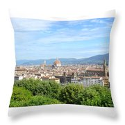 A View Of Florence Throw Pillow
