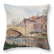 A View Of Framwelgate Bridge Throw Pillow