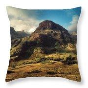 A View Of Glencoe. Throw Pillow