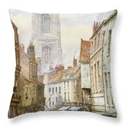 A View Of Irongate Throw Pillow by Louise J Rayner