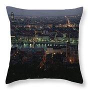 A View Of Lyon Between The Pont De La Throw Pillow by James L. Stanfield